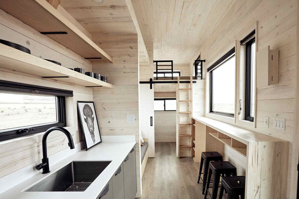 Tiny House Life in Dallas from a Shell Kit